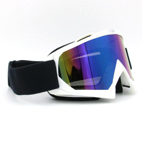Fancy Dustproof UV Protection Off Road Riding Goggles - WHITE  Mobile
