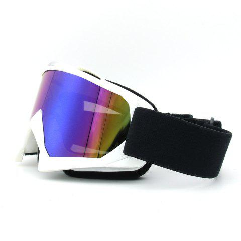 Affordable Dustproof UV Protection Off Road Riding Goggles - WHITE  Mobile
