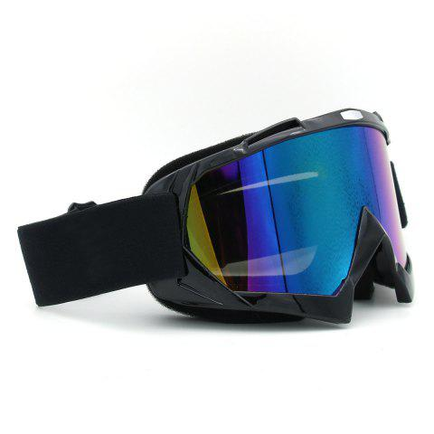 Store Dustproof UV Protection Off Road Riding Goggles - BLACK  Mobile