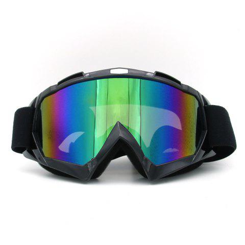 Affordable Dustproof UV Protection Off Road Riding Goggles - BLACK  Mobile