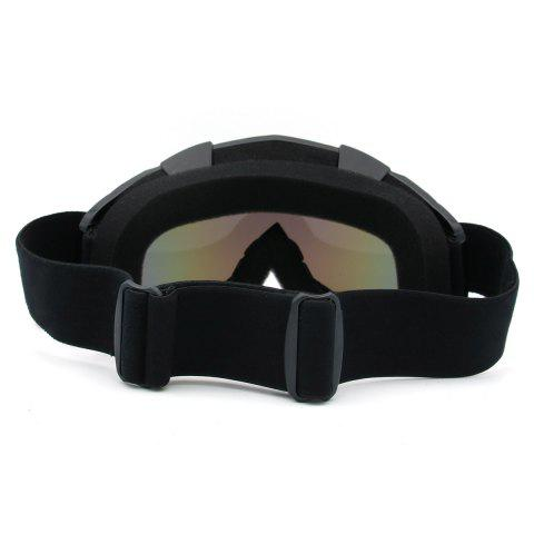 Shop Dustproof UV Protection Off Road Riding Goggles - BLACK  Mobile