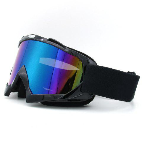 Fancy Dustproof UV Protection Off Road Riding Goggles - BLACK  Mobile