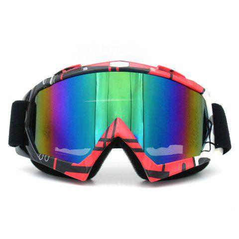 Fancy Dustproof UV Protection Off Road Riding Goggles - BLACK AND PINK  Mobile