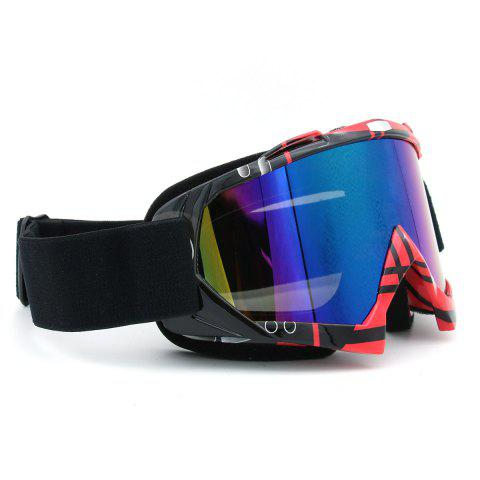 Shop Dustproof UV Protection Off Road Riding Goggles - BLACK AND PINK  Mobile