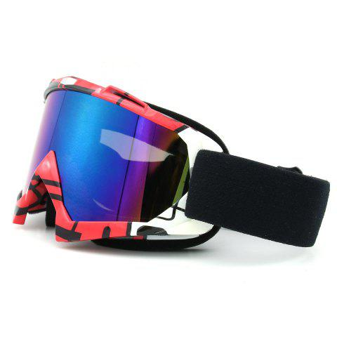 Store Dustproof UV Protection Off Road Riding Goggles - BLACK AND PINK  Mobile