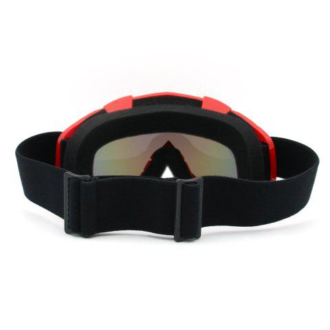 Online Dustproof UV Protection Off Road Riding Goggles - RED  Mobile