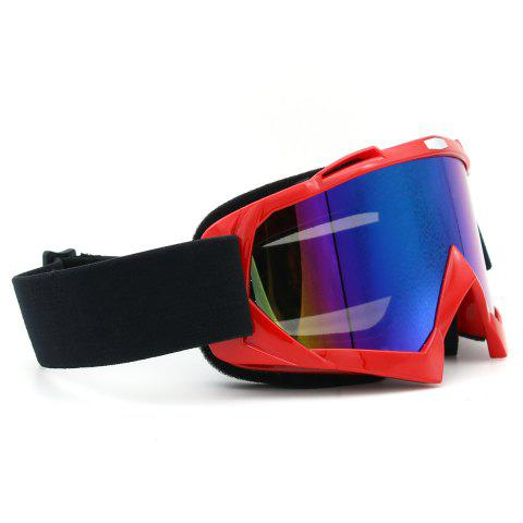 Unique Dustproof UV Protection Off Road Riding Goggles - RED  Mobile