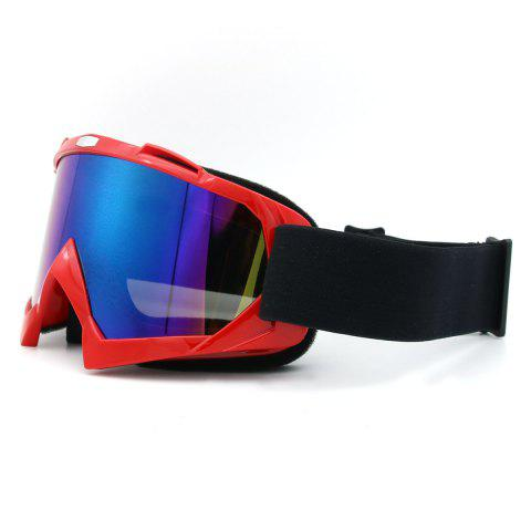Shop Dustproof UV Protection Off Road Riding Goggles - RED  Mobile