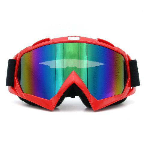 Store Dustproof UV Protection Off Road Riding Goggles RED