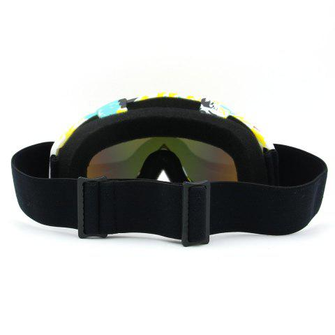 Latest Dustproof UV Protection Off Road Riding Goggles - COFFEE AND YELLOW  Mobile