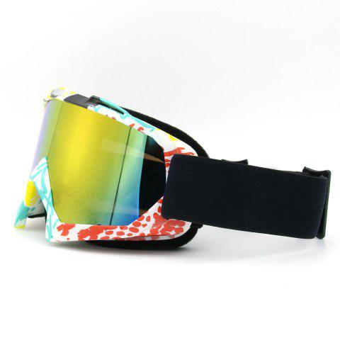 Unique Dustproof UV Protection Off Road Riding Goggles - COFFEE AND YELLOW  Mobile