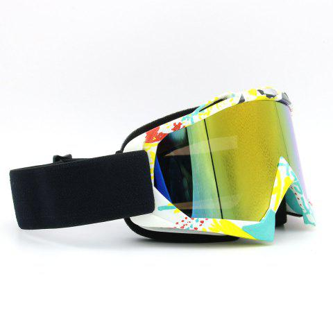 Online Dustproof UV Protection Off Road Riding Goggles - COFFEE AND YELLOW  Mobile