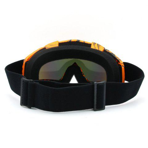 Affordable Dustproof UV Protection Off Road Riding Goggles - ORANGE BROWN  Mobile