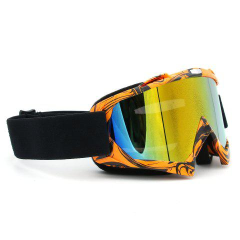 Latest Dustproof UV Protection Off Road Riding Goggles - ORANGE BROWN  Mobile