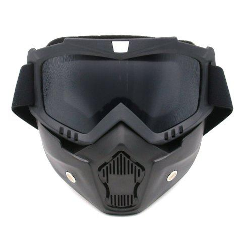 Affordable Off Road Detachable Breathable Motorcycle Goggles - GRAY  Mobile