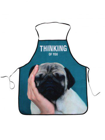 Best Thinking Dog Print Kitchen Cooking Apron - 80*70CM COLORMIX Mobile