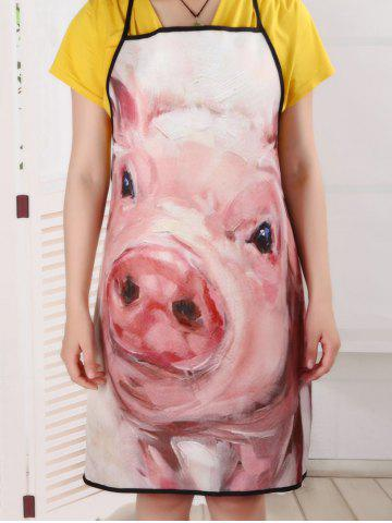 Best Cooking Waterproof Oilproof Funny Pig Apron - 80*70CM PINK Mobile