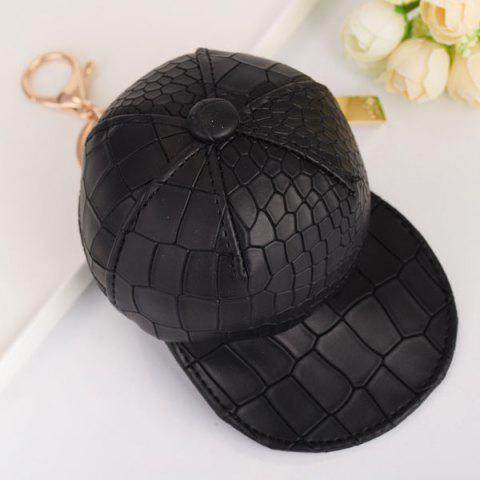 Unique Snake Printed Baseball Hat Coin Purse Key Chain - BLACK  Mobile