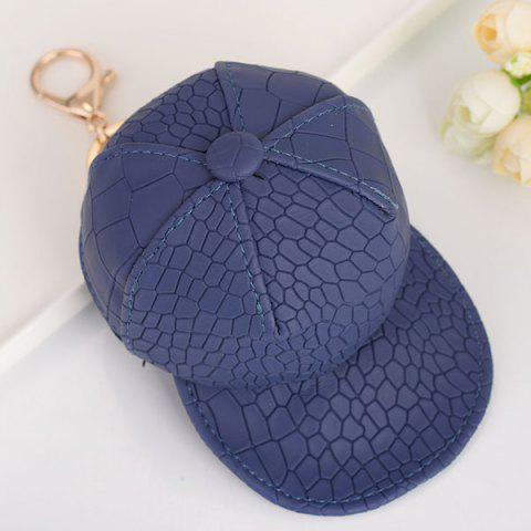 Fashion Snake Printed Baseball Hat Coin Purse Key Chain CADETBLUE
