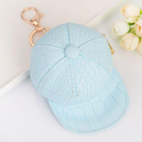 Shops Snake Printed Baseball Hat Coin Purse Key Chain SKY BLUE