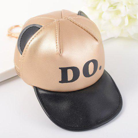 Coin Purse Baseball Hat Cool Keyring - Platinum - One Size