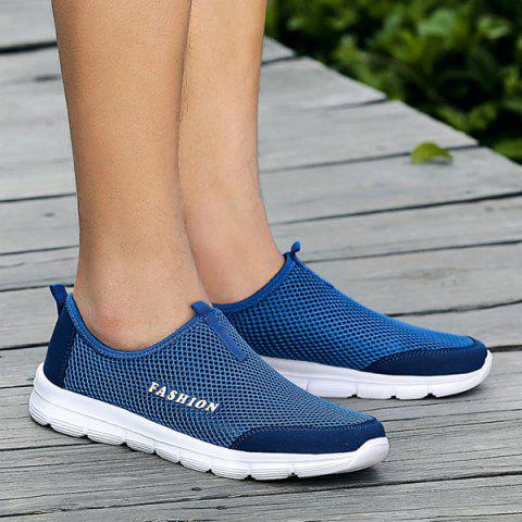 Breathable Mesh Casual Shoes - Blue - 40