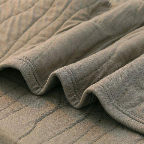 Latest 100 Percent Long Stapled Cotton Bed Blanket - QUEEN DUSTY GREY Mobile