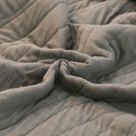 Buy 100 Percent Long Stapled Cotton Bed Blanket - QUEEN DUSTY GREY Mobile