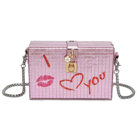 Chic Lock Detail Chain Crossbody Bag PINK