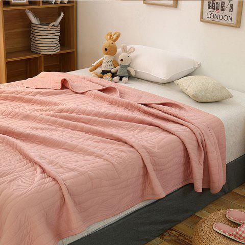 Outfits 100 Percent Long Stapled Cotton Bed Blanket - FULL LIGHT PINK Mobile