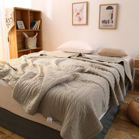 Trendy 100 Percent Long Stapled Cotton Bed Blanket - FULL GRIEGE Mobile