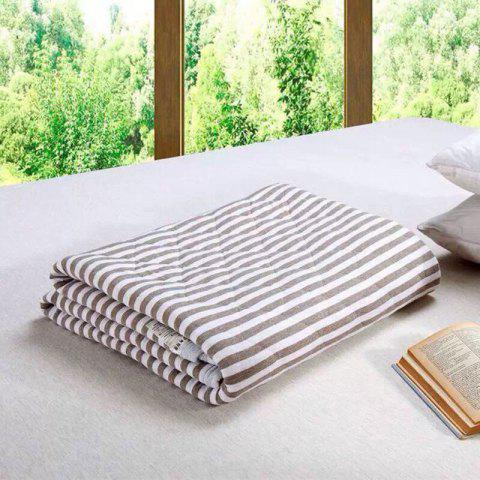 Unique 100 Percent Striped Long Stapled Cotton Blanket - FULL BROWN Mobile