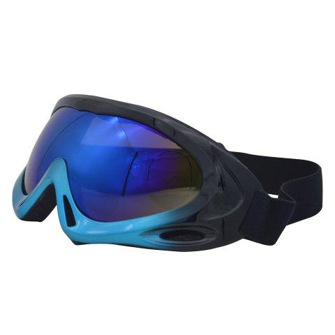 Affordable UV Protection Anti Fog Dustproof Riding Goggles - BLUE AND BLACK  Mobile