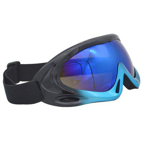 New UV Protection Anti Fog Dustproof Riding Goggles - BLUE AND BLACK  Mobile