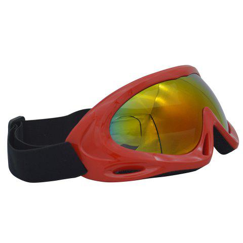Store UV Protection Anti Fog Dustproof Riding Goggles - RED  Mobile