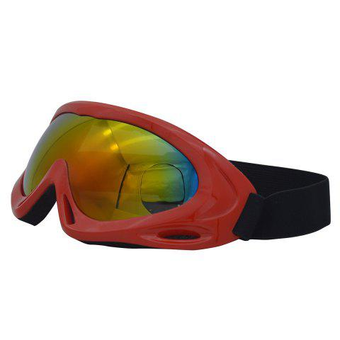 New UV Protection Anti Fog Dustproof Riding Goggles - RED  Mobile