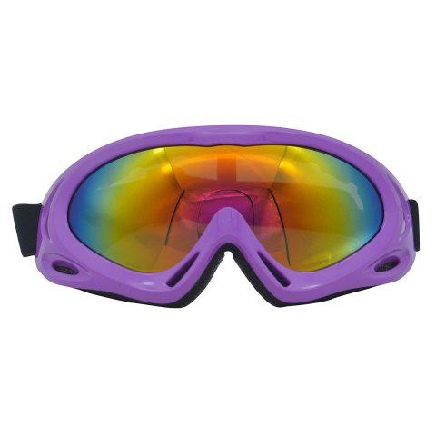 New UV Protection Anti Fog Dustproof Riding Goggles PURPLE
