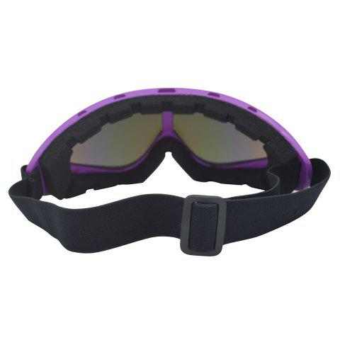 Hot UV Protection Anti Fog Dustproof Riding Goggles - PURPLE  Mobile