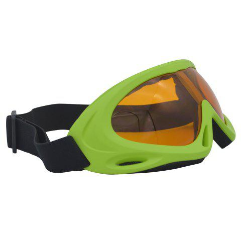 Online UV Protection Anti Fog Dustproof Riding Goggles - GREEN  Mobile