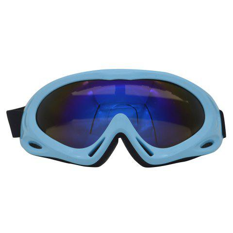 Hot UV Protection Anti Fog Dustproof Riding Goggles - BLUE  Mobile