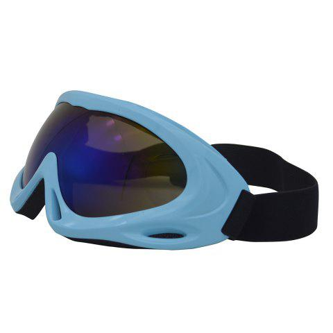 Online UV Protection Anti Fog Dustproof Riding Goggles - BLUE  Mobile