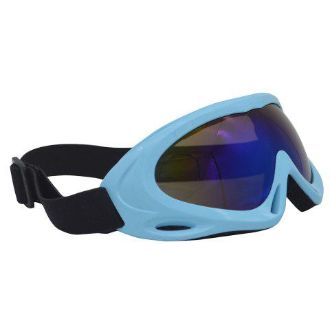 Latest UV Protection Anti Fog Dustproof Riding Goggles - BLUE  Mobile
