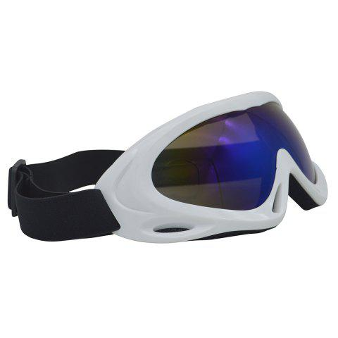 Outfits UV Protection Anti Fog Dustproof Riding Goggles - WHITE  Mobile