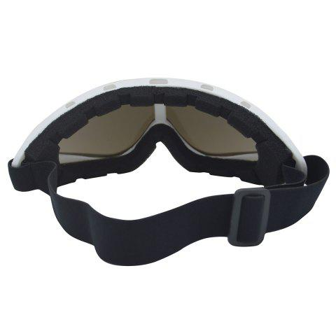 New UV Protection Anti Fog Dustproof Riding Goggles - WHITE  Mobile