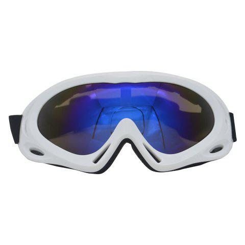 Online UV Protection Anti Fog Dustproof Riding Goggles - WHITE  Mobile