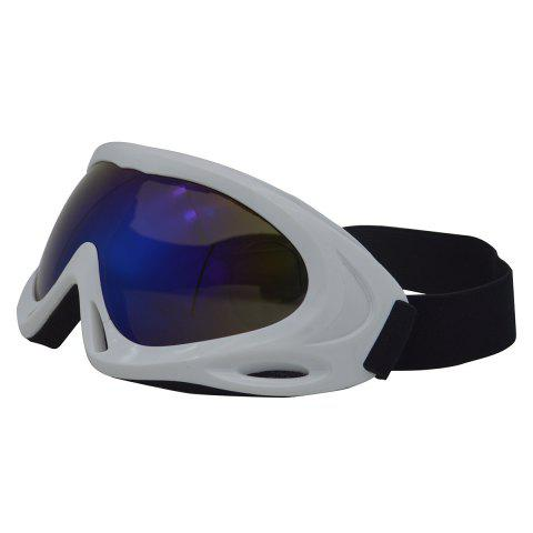 Latest UV Protection Anti Fog Dustproof Riding Goggles - WHITE  Mobile