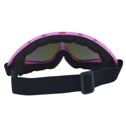 Shop UV Protection Anti Fog Dustproof Riding Goggles - PINK  Mobile