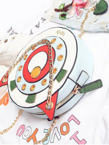 New Eyelets Chain Canteen Bag - WHITE  Mobile