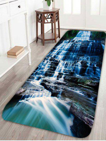 Best Waterfall Scenic Water Absorption Skidproof Rug - W24 INCH * L71 INCH BLACK Mobile