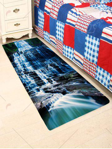 Shops Waterfall Scenic Water Absorption Skidproof Rug - W24 INCH * L71 INCH BLACK Mobile